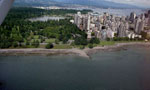 Aerial View of Downtown Vancouver, Lost Lagoon & English Bay