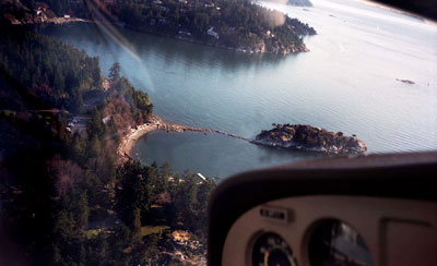 Aerial View of Whyte Islet Park & Whytecliff Park