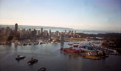 Aerial View of Vancouver Harbour & Deadman's Island