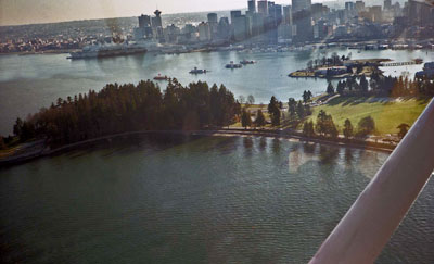 Aerial View of Stanley Park & Vancouver
