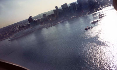 Aerial View of Burrard Inlet & Canada Place
