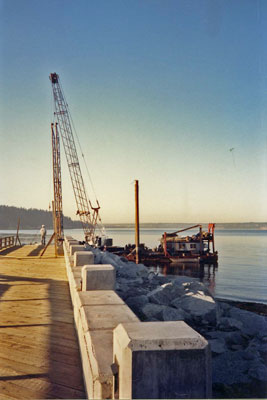 Ambleside Pier Construction