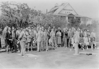 Lawn Bowling at Scout Hall
