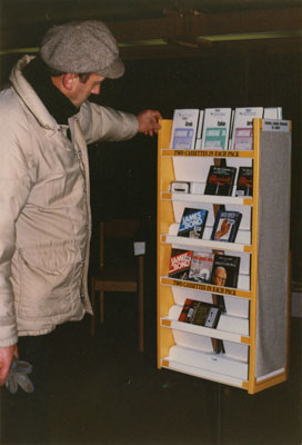 WVML Patron with Cassette Tapes
