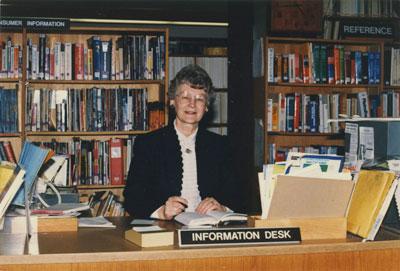 Head of WVML Reference Dept. Doreen Sullivan