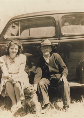 Dan Sewell seated with Edna Piper