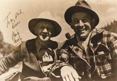 Dan Sewell fishing with Bing Crosby