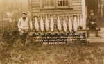 Fishermen with catch in Horseshoe Bay in 1927