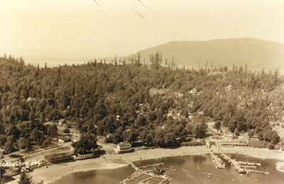 Aerial view of Horseshoe Bay in 1931