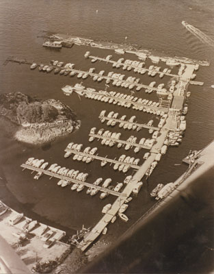 Aerial Photo of Sewell's Marina