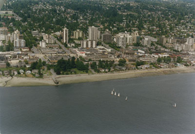 Aerial View of West Vancouver Shoreline