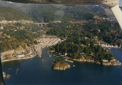 Aerial View of West Vancouver Shoreline (Eagle Island)