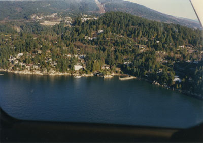 Aerial View of West Vancouver Shoreline (Kew Beach)