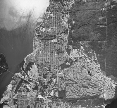 Aerial View of West Vancouver Shore