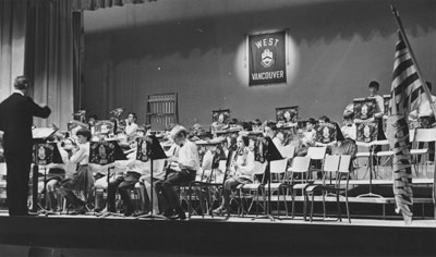 West Vancouver Band under the direction of Len Whitely