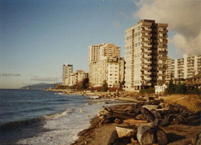 Highrise apartments along Centennial seawalk between 18th & 21st Street