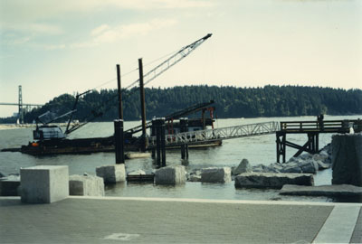 Ambleside Landing at the foot of 14th Street under construction