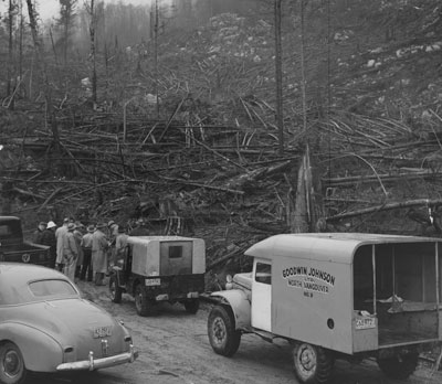 Clearing of land on Hollyburn Mountain
