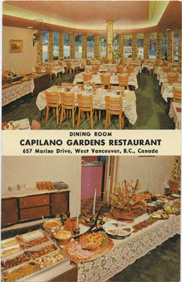 Postcard from Capilano Gardens Restaurant