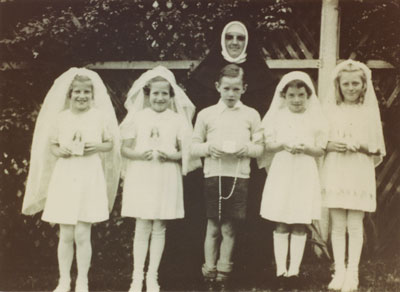 Sister Amy and the first communion class at St. Anthony's Church