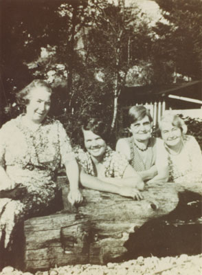 Pioneer women of St. Anthony's Roman Catholic Church: Annie Lambert, Rose Forrest, Mrs. O'Grady and Susie Lloyd