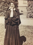 Sister George Marie (Norma Gemmill) receiving her vows in 1951