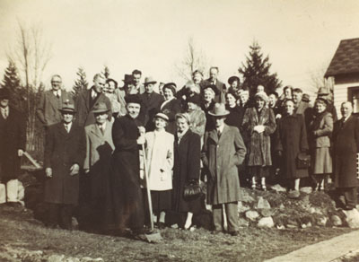 St. Anthony's Church sod turning with Monsignor Hobson