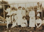 Women who helped serve meals during construction of St. Stephen's rectory