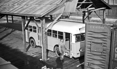 Bus #28 Being Loaded into Rail Car