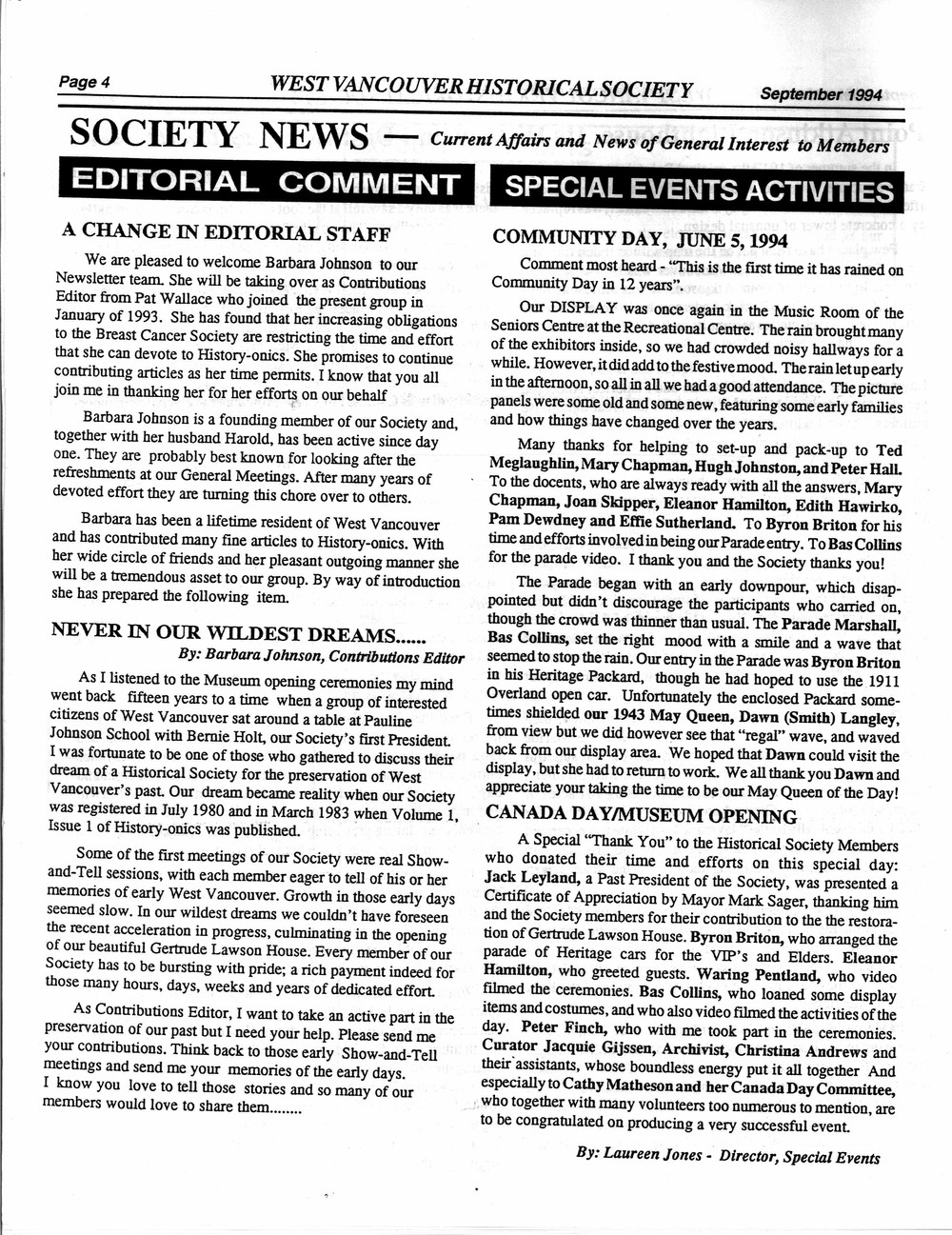 History-onics (West Vancouver, BC: West Vancouver Historical Society), September 1994
