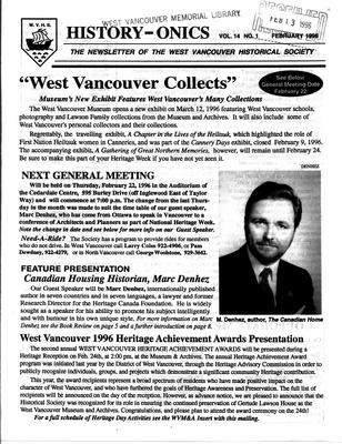 History-onics (West Vancouver, BC: West Vancouver Historical Society), 1 Feb 1996