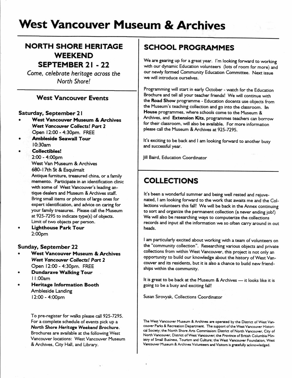History-onics (West Vancouver, BC: West Vancouver Historical Society), September 1996