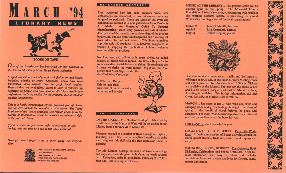 Library News, 1 Mar 1994