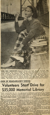 When West Vancouver's Memorial Library clipping