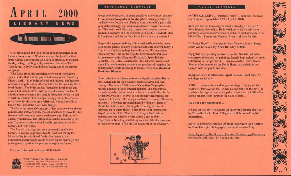 Library News, 1 Apr 2000
