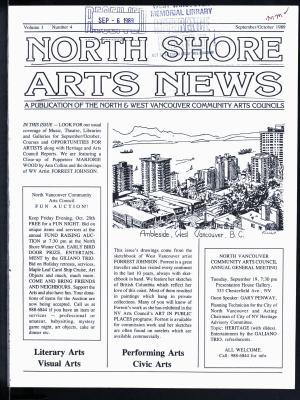 North Shore Arts News (North Vancouver, BC), September/October 1989