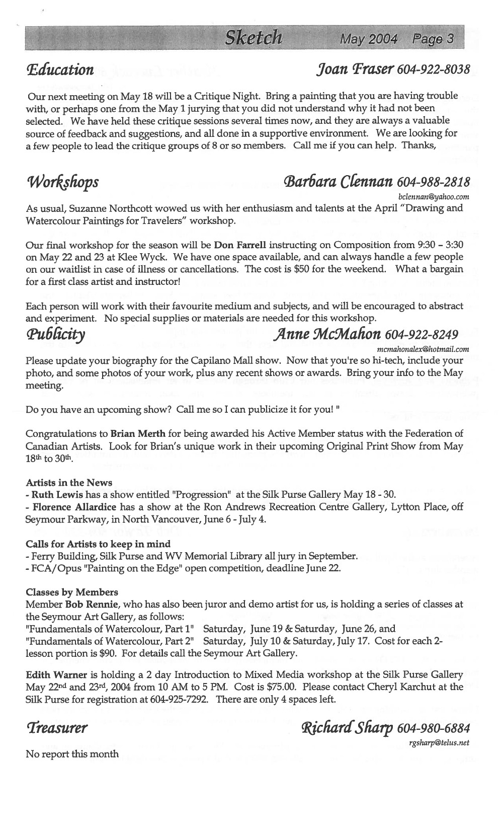 West Vancouver Sketch Club (North Shore Artists' Guild) (20090101), May 2004
