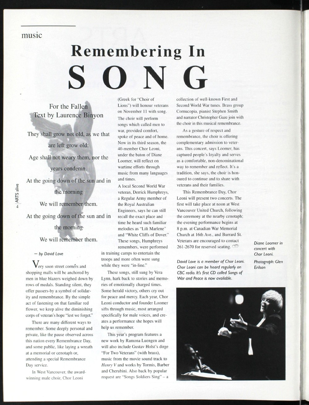 Arts Alive, November/December 1995