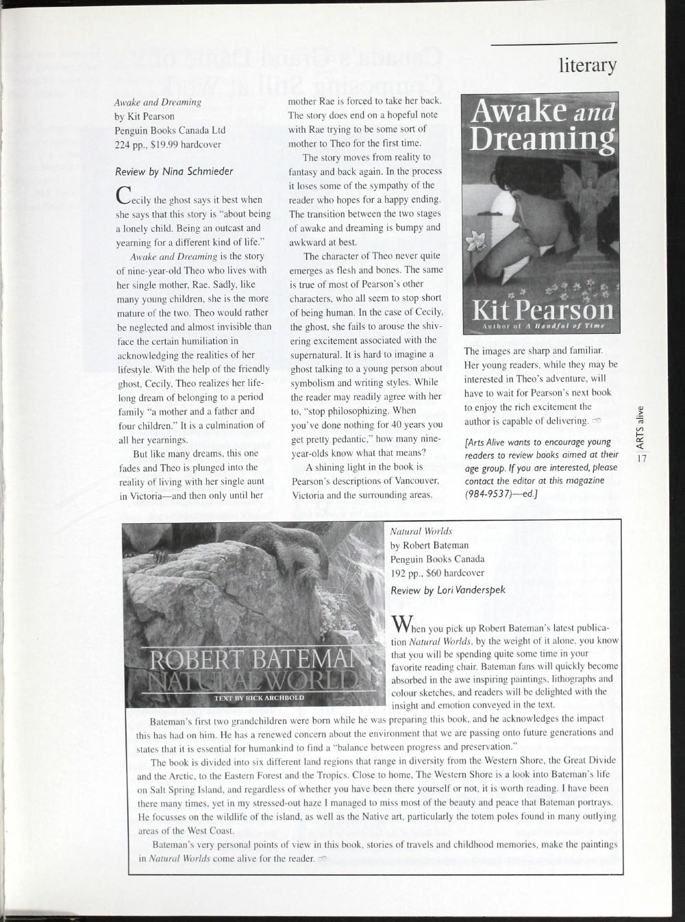 Arts Alive, November/December 1996