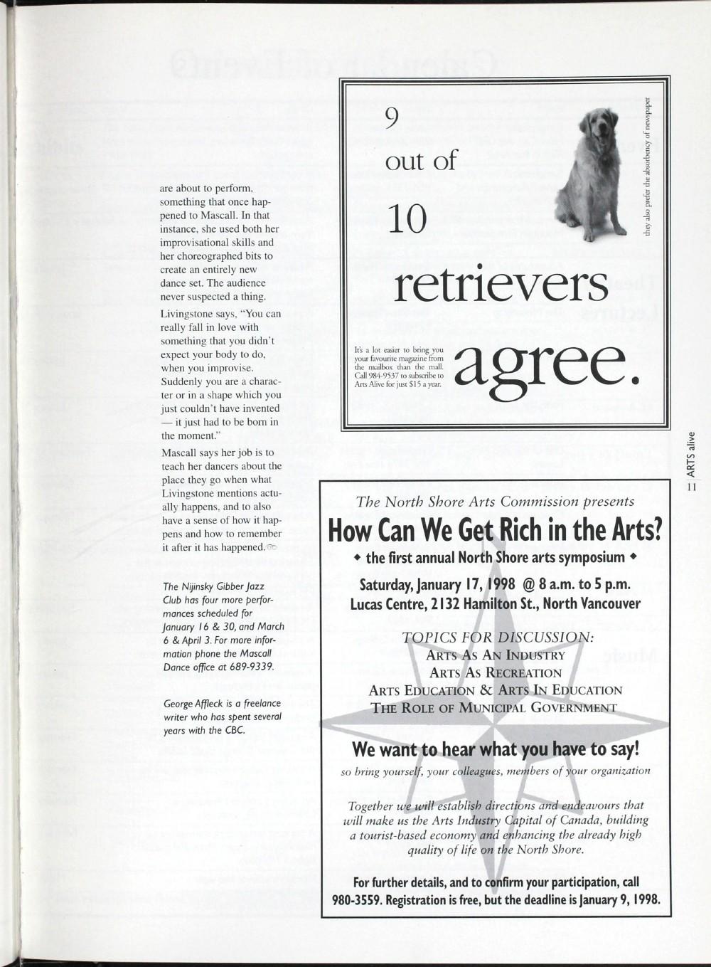 Arts Alive, January/February 1998