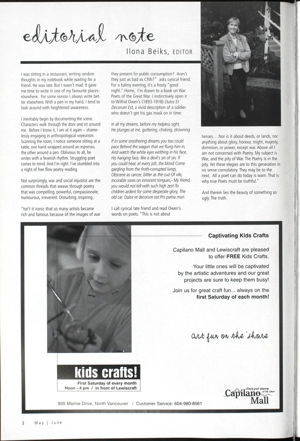 Arts Alive, May/June 2003