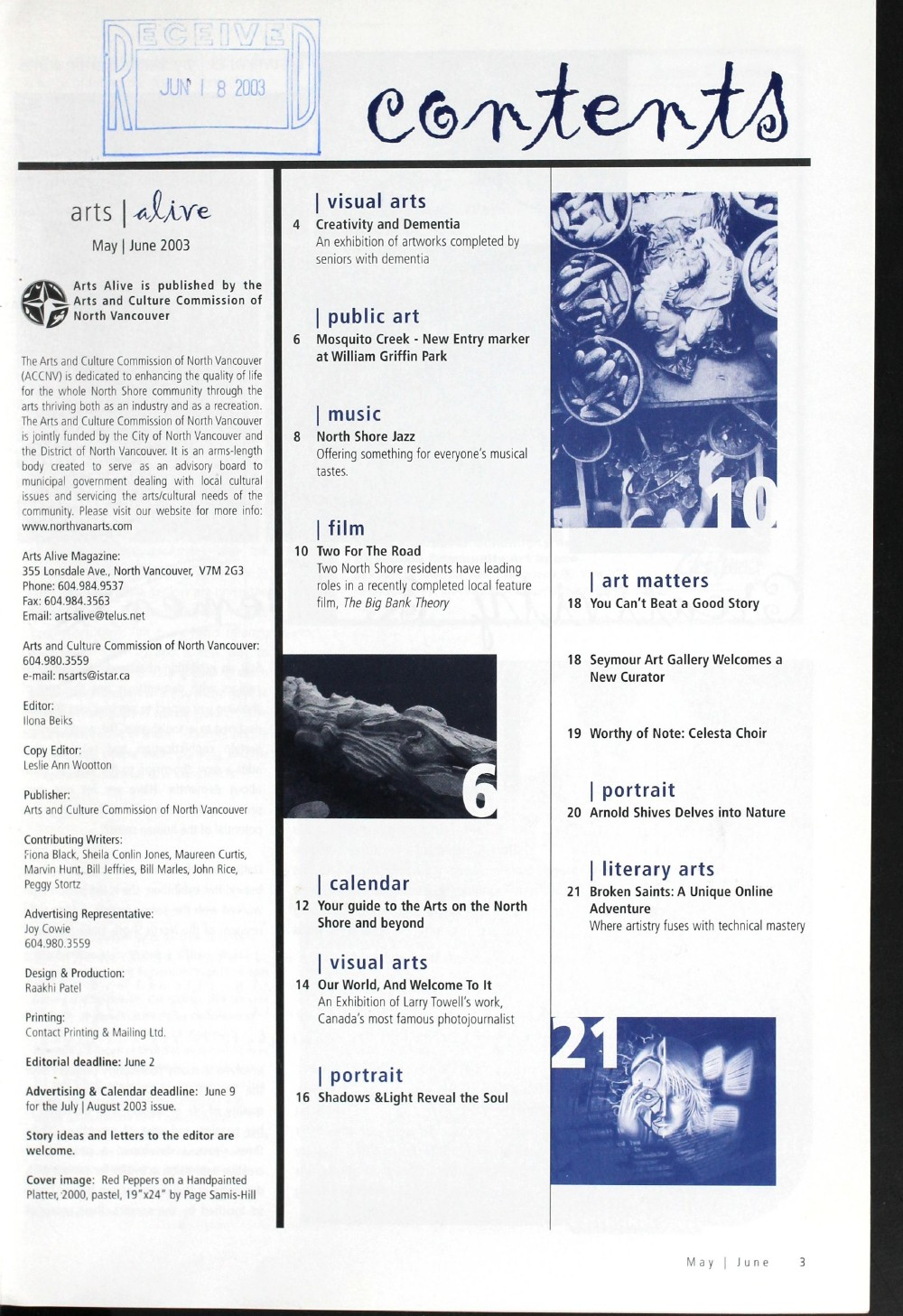 Arts Alive, May/June 2003