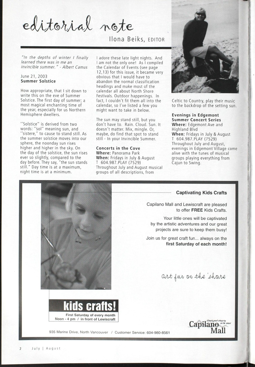 Arts Alive, July/August 2003