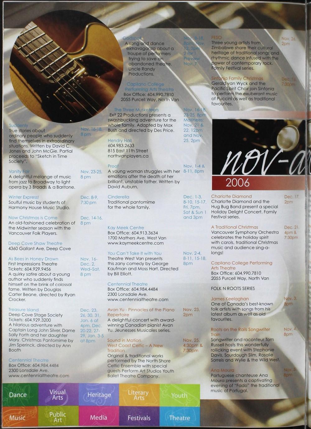 Arts Alive, November/December 2006