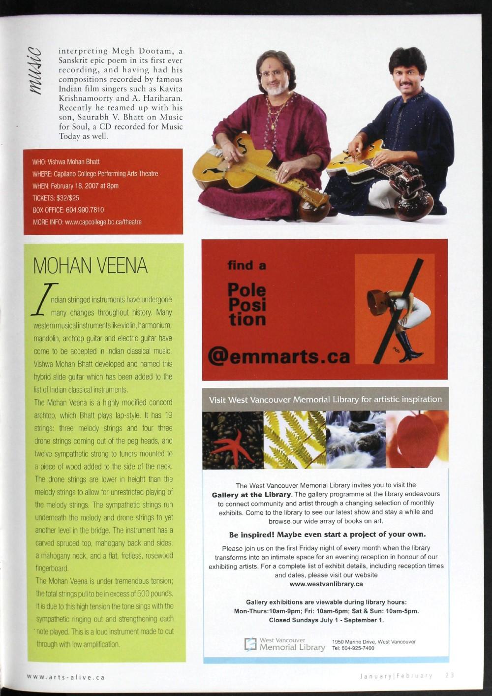 Arts Alive, January/February 2007