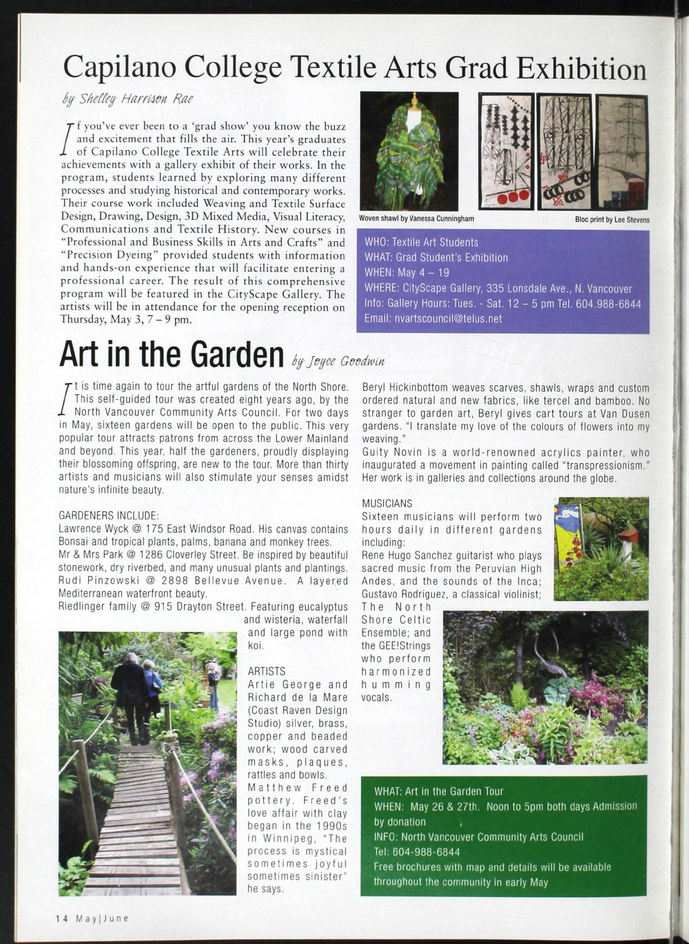 Arts Alive, May/June 2007