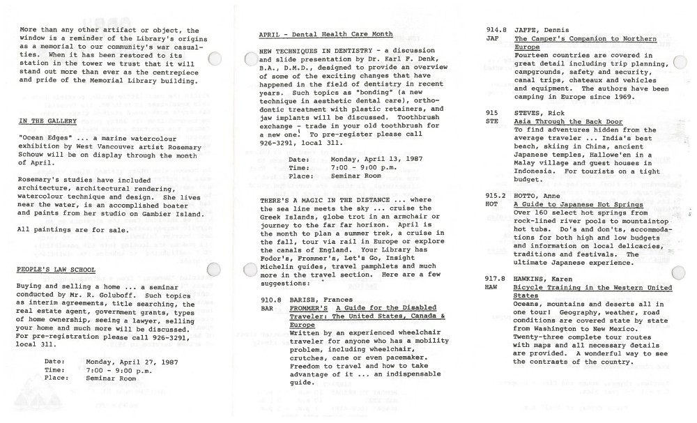 Library News, April 1987