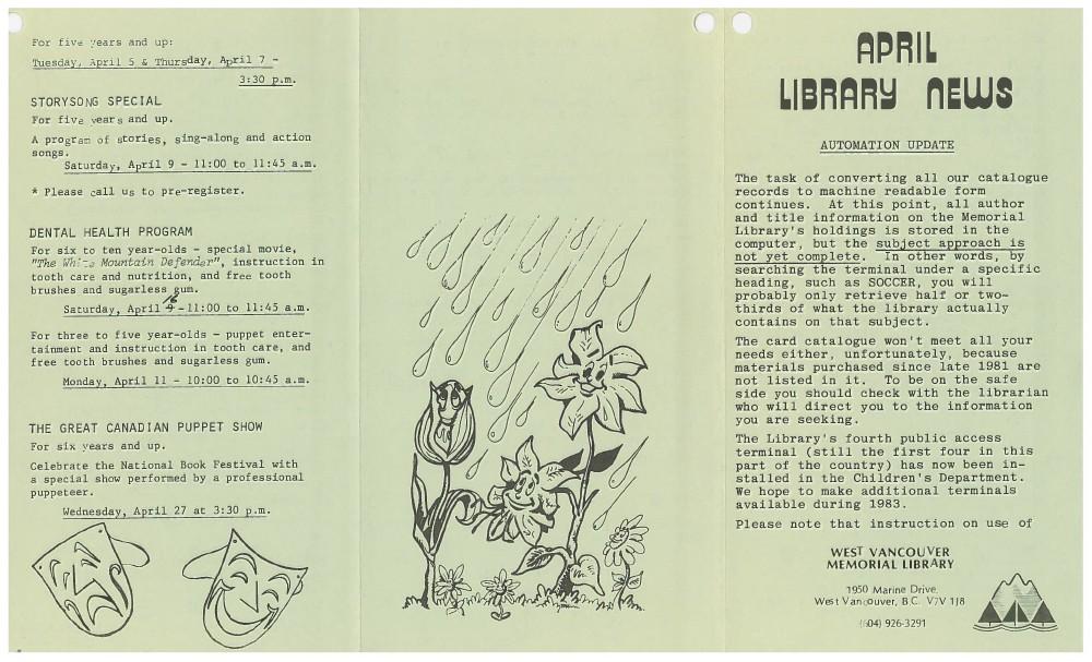 Library News, April 1984
