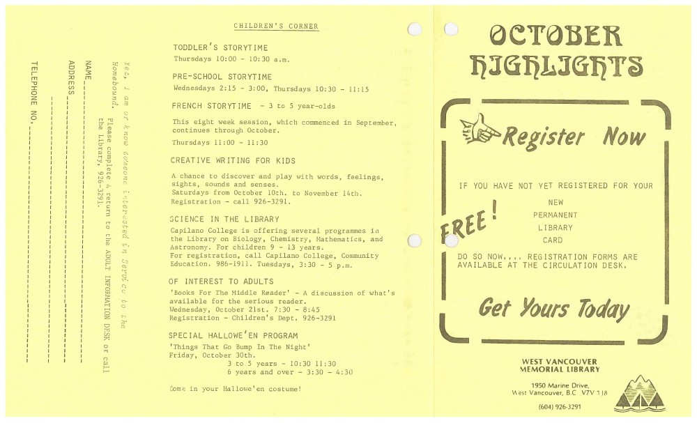 Library News, October 1981