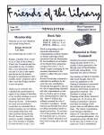 Friends of the Library Newsletter, April 1999